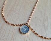 Gold hair chain, Glitter pendant, Hair accessory