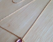 Gold hair chain, Pink gemstone pendant, Drop pendant or double loop