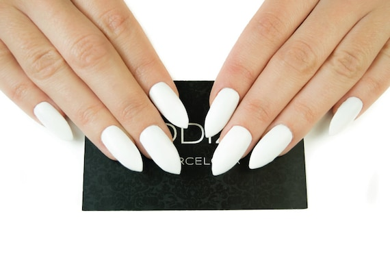 White Matte UV Gel Nails Set Fake Press On