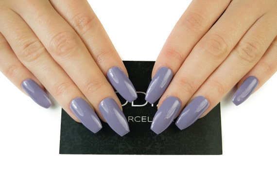 Lilac UV Gel Nails Press On Fake False
