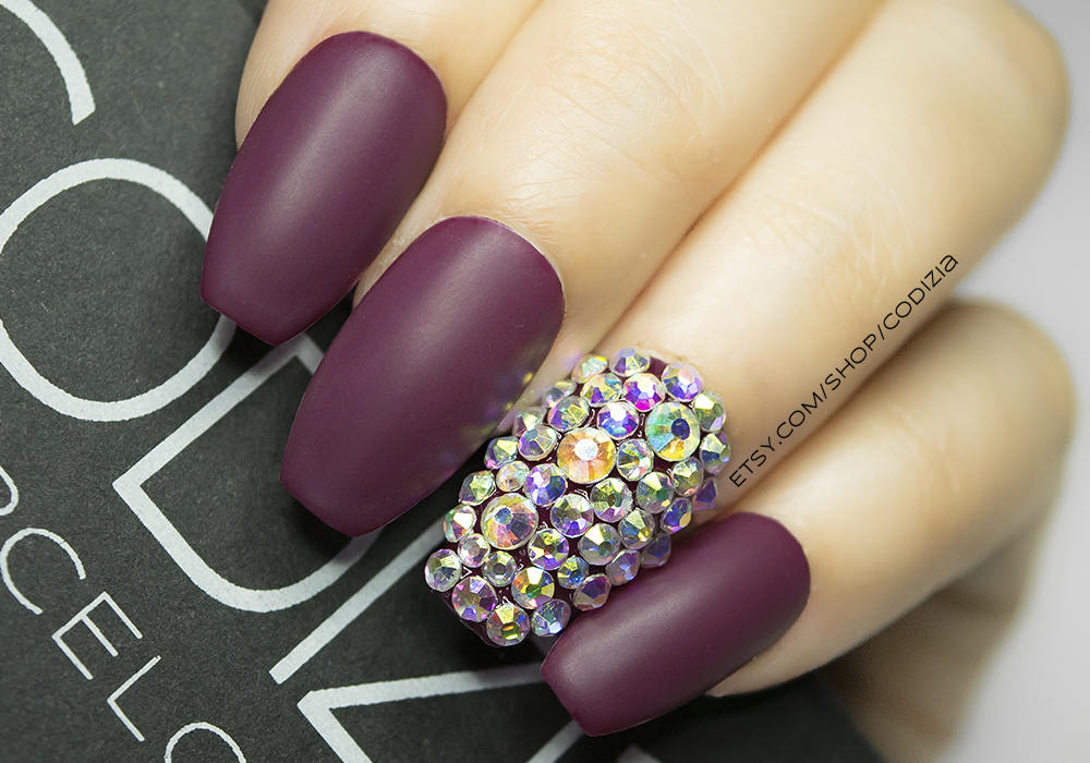 Coffin nails | Pure bling press on nails | Coffin shape | Any size ...