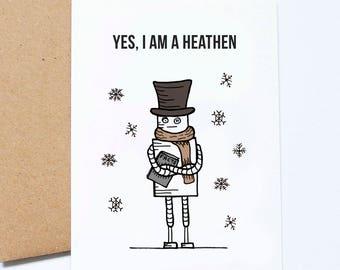 A una pareja especial tarjeta de Navidad festiva árbol de oro frustrado Tarjetas de Navidad Especial