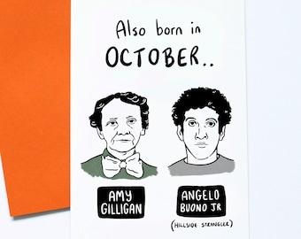 October Birthday Card, Serial Killer, Amy Gilligan, Angelo Buono Jr, True Crime, Dark Humour