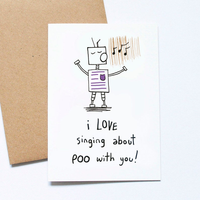 Poo Songs Funny Fathers Day Card From Kid Card For Daddy image 0