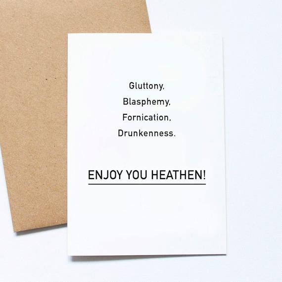 Atheist Xmas Card freche Weihnachtskarte nicht religiösen | Etsy