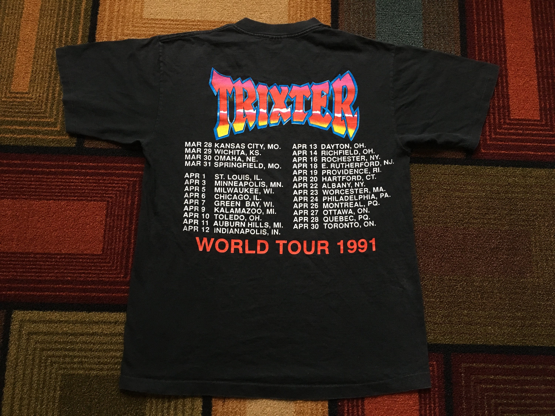 Vintage 1991 Trixter World Tour Concert T Shirt Band Rock Etsy