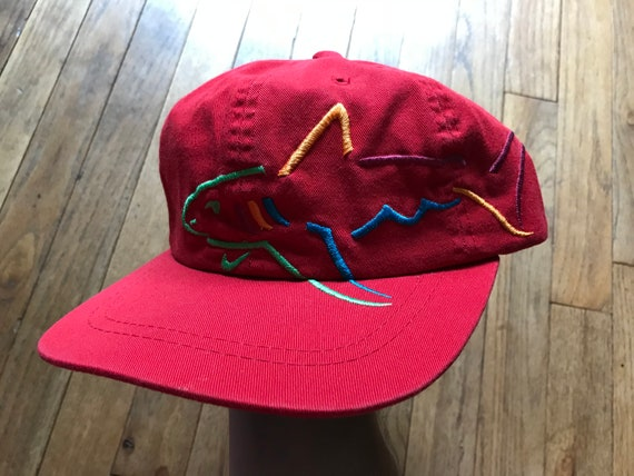 check out 52b1c 160cf NEW Vintage 90s Greg Norman SHARK Logo Strapback hat Red Golf   Etsy