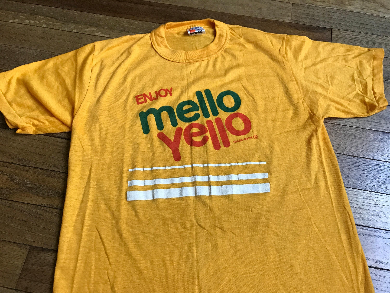 80/'s Retro Enjoy Mellow Yellow Drink T Shirt