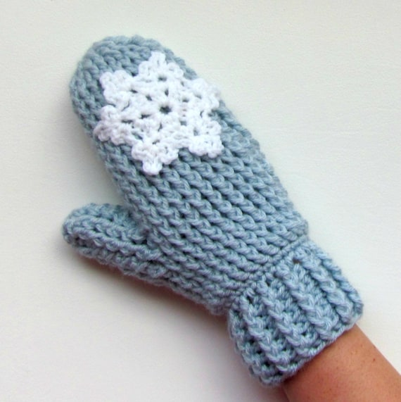 Crochet Pattern Cable Stitch Mittens Ladies Teens Knitted Look Etsy