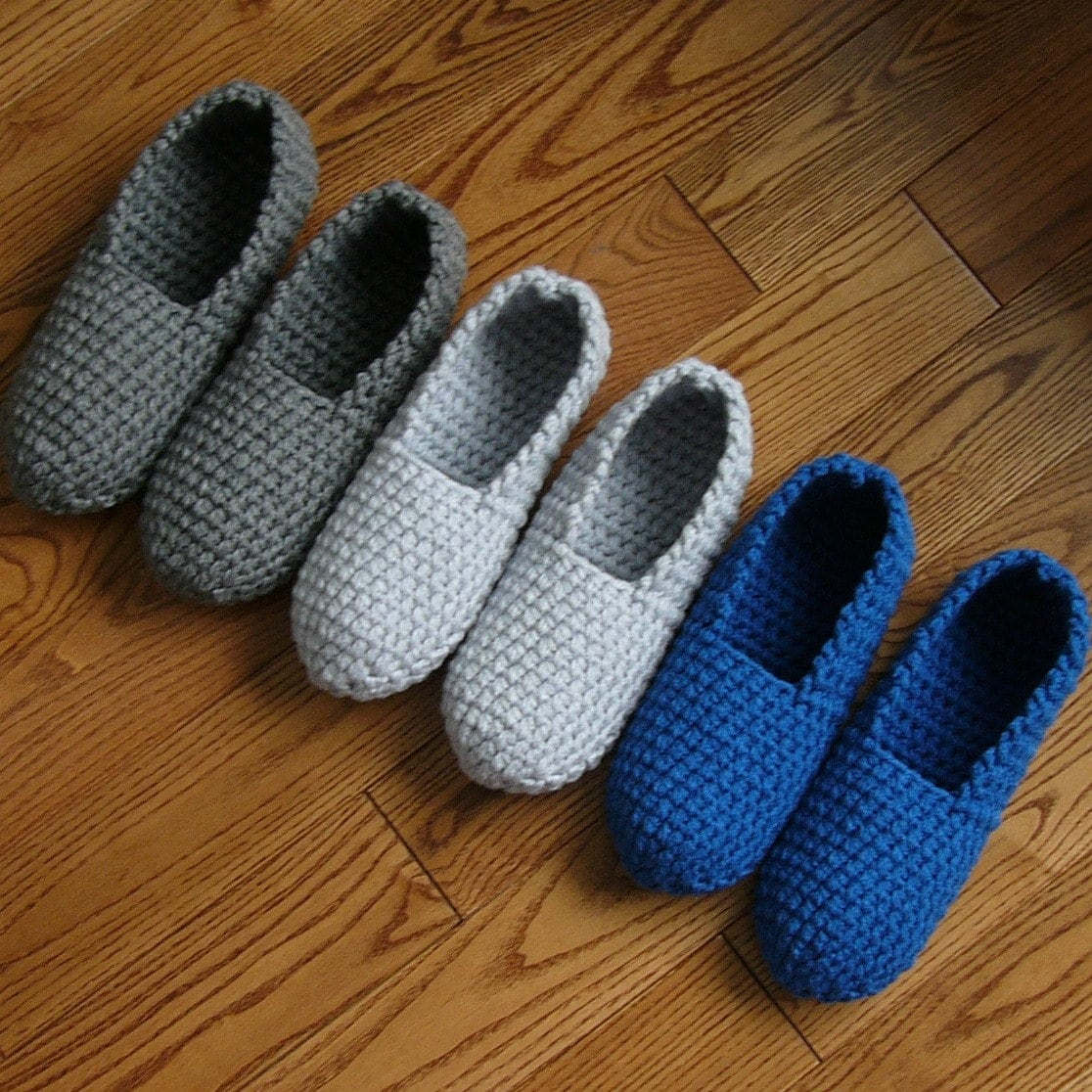 Crochet Pattern Mens Slippers Men Man Basic Pure Simple Easy Etsy