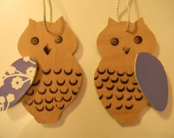 Wooden Hanging Owl