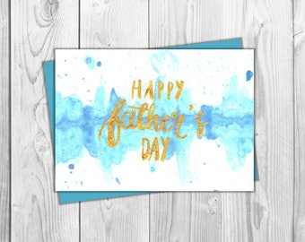 watercolor fathers day printables - 340×270