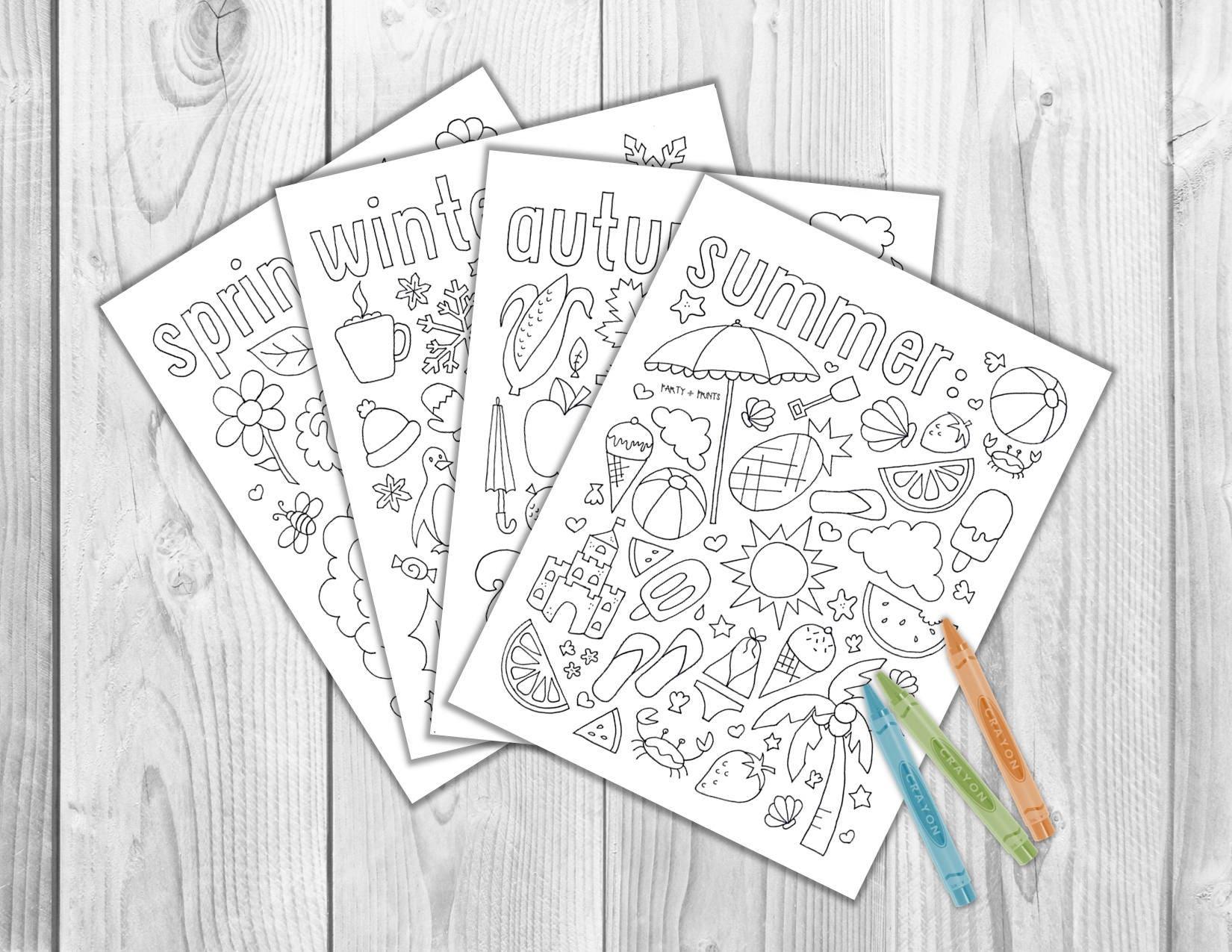 Printable Coloring Pages for Kids ~ MEGA Bundle of 32 Sets ~ 265 ...   1275x1650