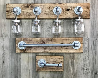 Porte-serviette rustique industriel Pipe porte-serviettes | Etsy