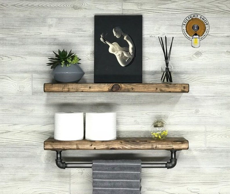 rustic distressed 5 5 deep floating shelves wall etsy rh etsy com distressed white wall shelves distressed wood wall shelves