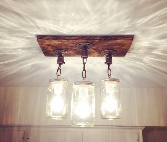 10 Light Diy Mason Jar Chandelier Rustic Cedar Rustic Wood: Rustic Industrial Modern Handmade Mason Jar Chandelier