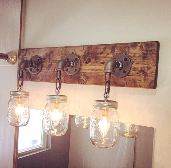 Vanity Light Fixture Mason Jar Light Mason Jar Lights