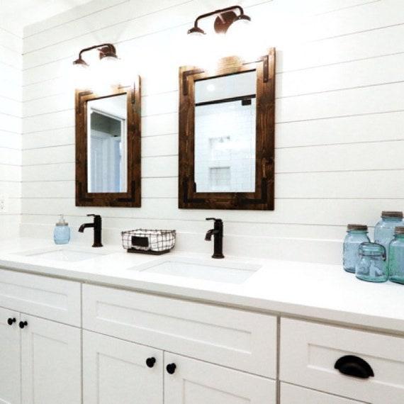 Charmant Espresso Mirror Wood Frame Mirror Wood Mirror Bathroom | Etsy
