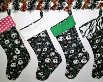 nightmare before christmas jack skellington christmas holiday stocking