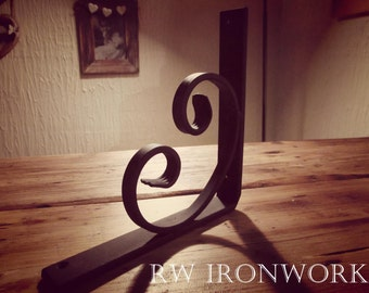 wrought iron shelf brackets