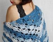 Women 39 s wool shawl wrap vintage Crochet Rustic granny Winter scarf Shoulder scarf Neck warmers