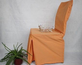 Orange Chair Slip Cover Vintage Slipcovers Dining Room Chair Covers With  Bow French Rustic Country Cottage