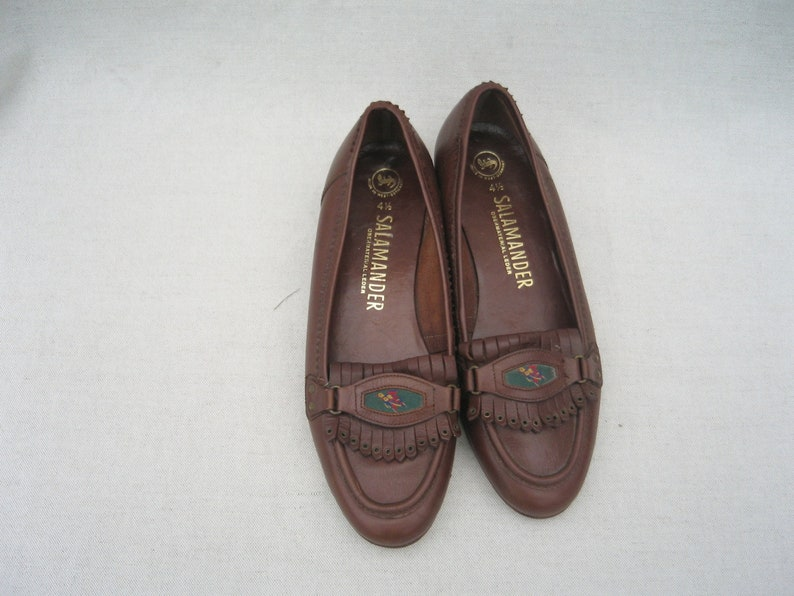 Salamander shoes Womens moccasins Heeled loafers Size 6.5