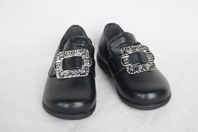 3633cb10a62ea Kids shoes Black leather shoes Infant Boys Girls Norwegian Traditional  Costume Children suit shoes Metal buckle Norway Size 24
