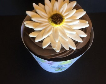 Gerber Daisy Cupcake Toppers