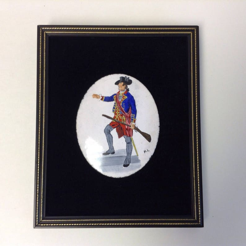 Enamel Miniature, Hand Painted Military Officer, Brackley Gifts, French  Indian War Virginia Regiment Militia, Provincial Army, Copper Art