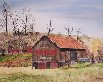 Red man barn,red man tobacco,tobacco advertisement,chewing tobacco, old barns,weathered barns,interesting barns,red man chewing tobacco,art