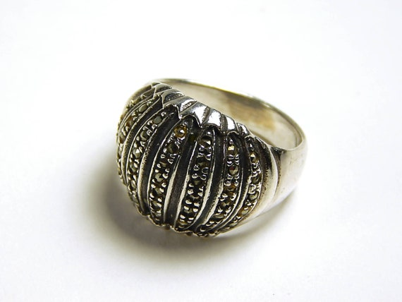 Vintage Cocktail Ring - Sterling Silver And Marcas