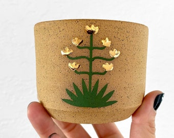 Agave Cup #2 - with GOLD Accent