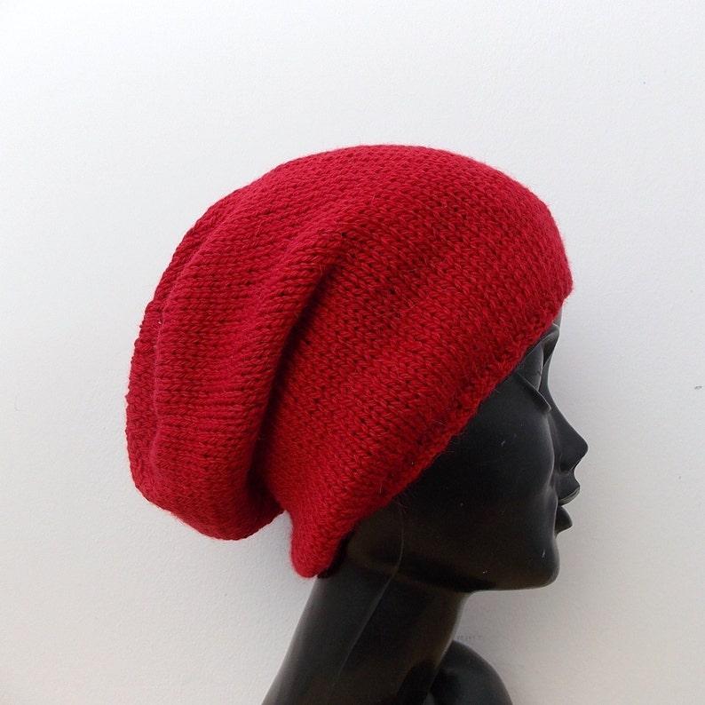 a0ce749d2d1 Alpaca hat Red wool beanie Knit hat women Hats women Beanie