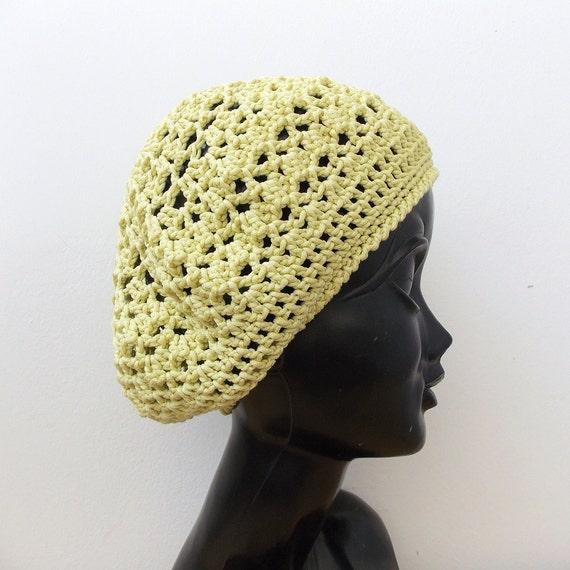 Leichte Grüne Seide Baumwolle Baskenmütze Häkeln Hüte Für Etsy