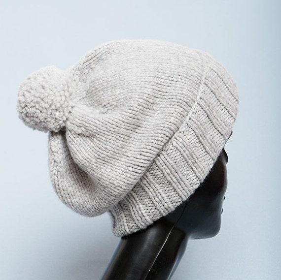 Gray Cashmere hat Beanie men Knit hats women Cashmere beanie  0def327c0e2