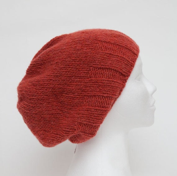 70d6956792b Orange Red Knit hats women Womens beanies Wool slouchy beanie Merino hat  man Knit Winter Mens merino wool beanies