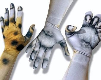 Cheetah Costume Gloves