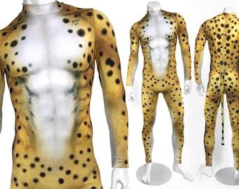 Men's Cheetah Costume Bodysuit