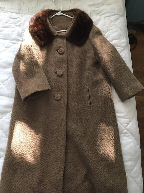 1960's Union Made Vintage Wool Fur Collar Jacket