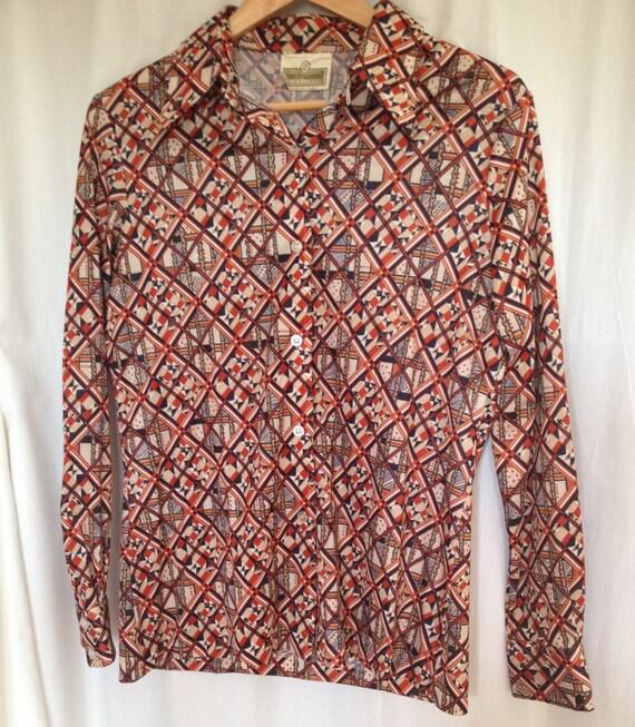 1970s Vintage Polyester Shirt