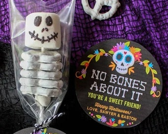 No Bones About It You're a Sweet Friend Halloween Gift Tag, Halloween treat bag tag, Halloween party favor, Halloween - INSTANT DOWNLOAD