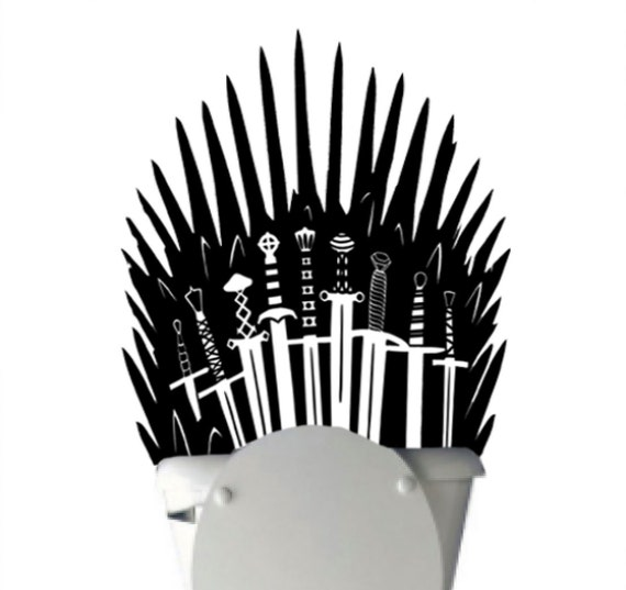 Iron Throne Toilet Decal Sticker Parody Inspired By Game Of Etsy