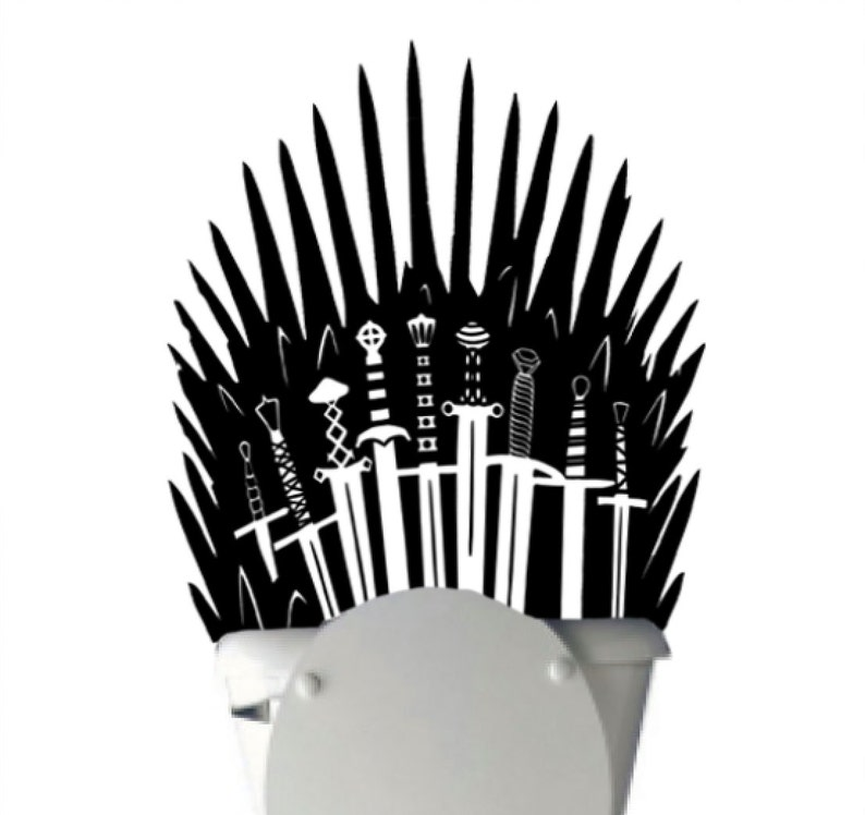 Iron Throne Toilet Decal Sticker Parody inspired by Game of image 0