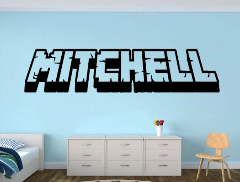 Personalized Gamer Name wall decal  3d looking Gamer Room image 0