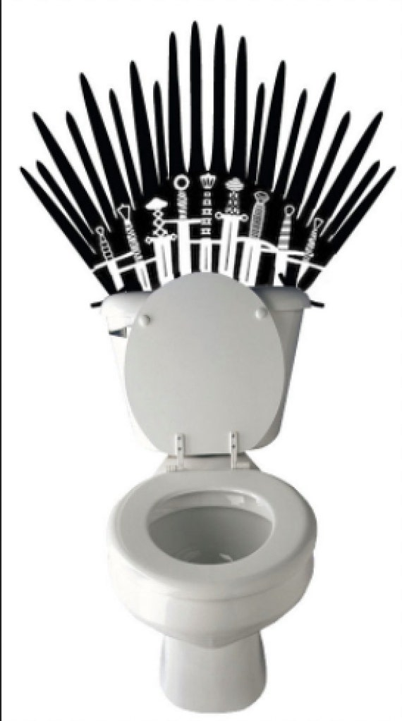 Hilarious Iron Throne Toilet Decal Game Of Thrones Inspired Etsy