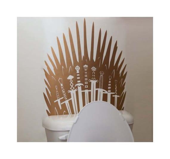 Metallic Iron Throne Toilet Decal Parody Inspired By Game Of Etsy