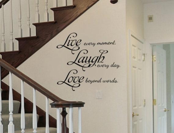 El Amor la vida que vivir de arte de pared calcomanía Etiqueta del vinilo
