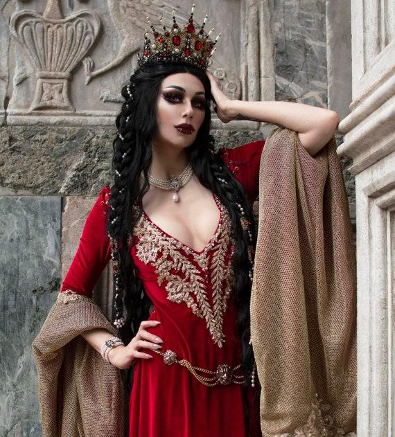 Parrucche Donna Medievale Costume Tudor Rinascimento Adulti Costume Accessorio Per Capelli