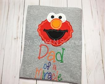 Sesame street birthday shirt embroidered birthday shirt | Etsy